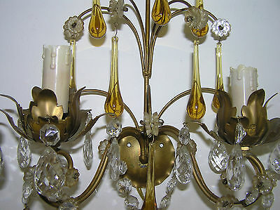 Pair Of Antique French Wall Lamps.