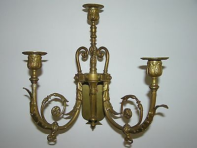 Antique French Bronze Wall Candle Stick.