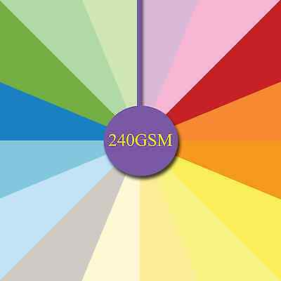 25 Sheets 240gsm A4 Smooth - Quality Craft Card -  card blanks Decoupage