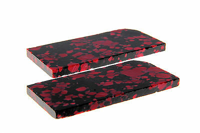 """Knife making blank blade """"Sparticus"""" Blood red mix inlay /handles (Pair) KHASP C"""