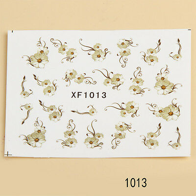 RHH 1PC Water Transfer 3D Nail Art Polish Decals Stickers Decoration Style 1013