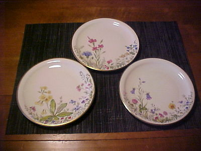 VTG set of 3 K&A Selb Germany Plates-J-K & L from the Floral Collectors series