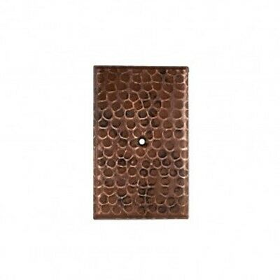 Premier Copper Products SB2 Blank Single Hole Hammered Copper Switch Plate Cover