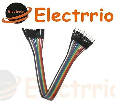 EL2202 10 CABLE JUMPER DUPONT protoboard MACHO - HEMBRA arduino cables wire
