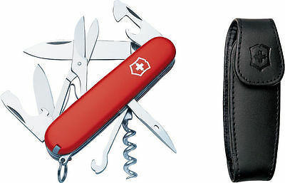 Swiss Army Knife With Pouch, Red Climber, Victorinox 55381, New In Box
