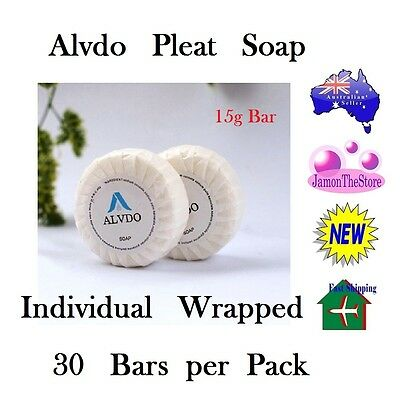 Alvdo Pleat Soap Guest Soap Individual Wrap Hotel Motel 15g x 30 bars Amenities