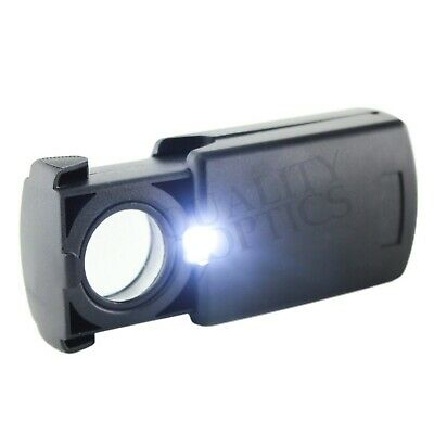 20X Magnifying Magnifier Jeweler Eye Jewelry Loupe Loop Led Light Pull Out USA S