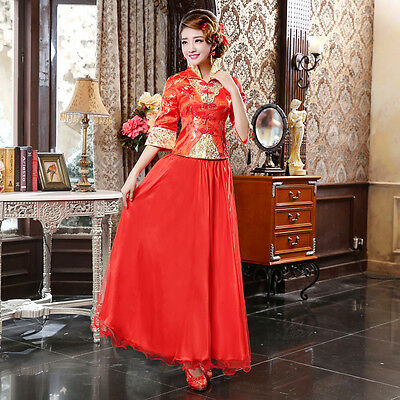 Chinese wedding dress QiPao Kwa Cheongsam 20 - latest fashion No Custom make