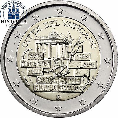 Vatican City Commemorative 2 euro coin 2014,  25 Years Fall of the Berlin Wall