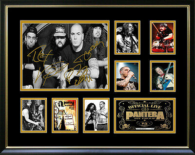 New Pantera Signed Framed Memorabilia