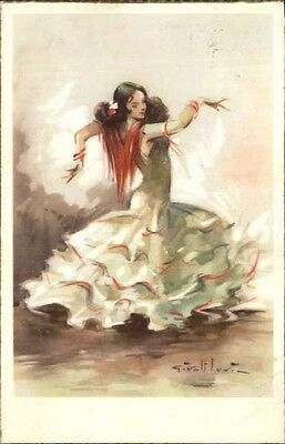 Beautiful Spanish Dancing Woman – Postcard Signature?