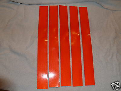 """3M 2"""" x 18"""" SOLID RED REFLECTIVE TAPE 8 SHEETS"""