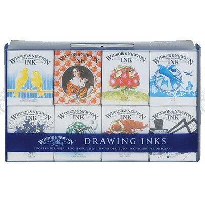 Winsor & Newton Drawing Ink Set Henry Collection. Artists Pen & Painting Inks.