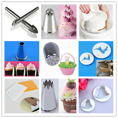 AU$1.00 Sales! Fondant Cake Scraper Icing Piping Nozzles Decorating Mold Tool #M