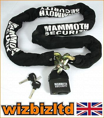Motorbike Security Mammoth Hardened Lock and Chain (1.8M 12mm Links) LOCMAMSS01