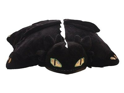 15'' How to Train Your Dragon NIGHT FURY TOOTHLESS Cushion Soft Plush Toy Dragon