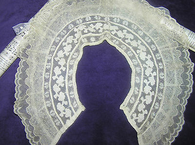 Antique Edwardian Hand Made Lace Collar 19th Cent.