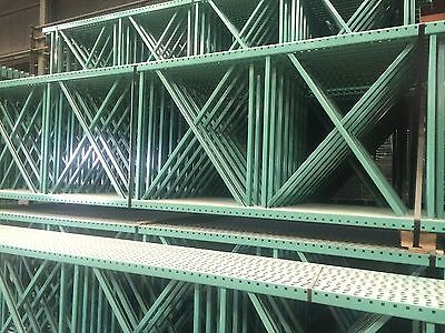 "5 Sections teardrop pallet rack 10'x42"", 96"" beam with wire deck"
