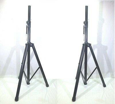 (2) Two LASE DJ / PA Metal Tripod Stands For Powered or Passive Speakers