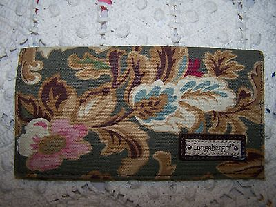 Longaberger Majolica Pattern Checkbook Cover, New