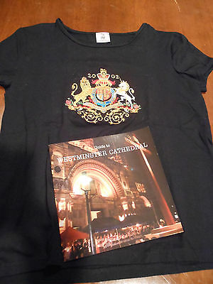THE ROYAL COLLECTION BRITISH UK T-SHIRT & GUIDE BOOK TO WESTMINSTER CATHEDRAL