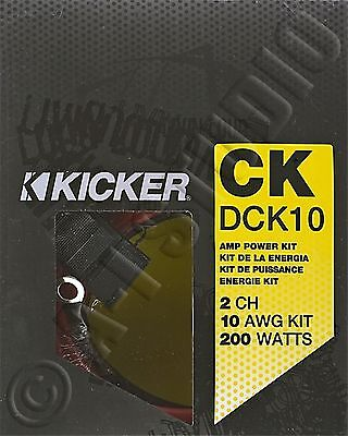 KICKER 09DCK10 10 AWG/GAUGE 2 CHANNEL/CH AMP AMPLIFIER WIRING INSTALLATION KIT