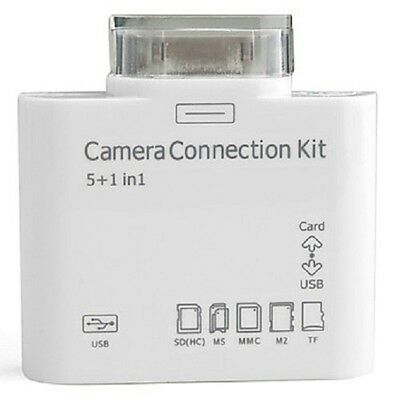 5 in 1 Connection Kit Camera Card Reader For iPad 1 2 3 iPhone
