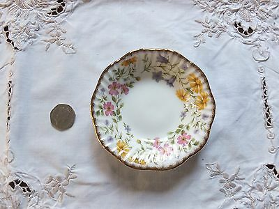 ELIZABETHAN Staffs hand decorated shallow bowl / pin dish  Harebells