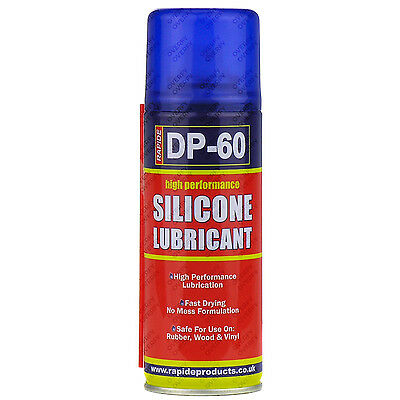 6x High Performance Silicone Spray Lubricant Repellent Cycle Bicycle Chain 200ml