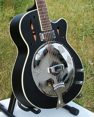 Resonator-Gitarre Single Cone Bisquit Mahagoni Body Mahagoni Hals Mini Humbucker