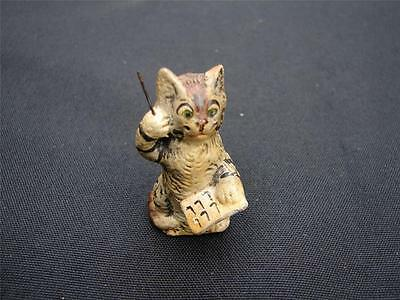 VINTAGE MINIATURE COMPOSITION GERMANY KITTEN CAT MAESTRO FIGURE