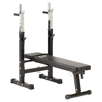 MIRAFIT Adjustable/Folding Flat Weight Bench & Dip Station Lifting/Chest Press