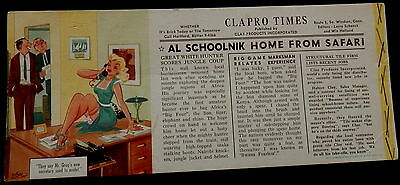 Blotter CLAPRO TIMES Clay Products Inc (RISQUE CARTOON, by WILSON CUTLER)