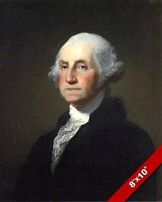 President George Washington Portrait Oil Painting Art Real Canvas Giclee Print