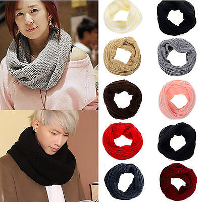 Winter Warmer Neck Infinity Circle Snood Scarf Shawl Warp for Couples Xmas Gift
