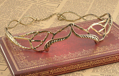 Gold Crown Circlet The Lord of the Rings Hobbit Elven Tiara Wedding Headband New