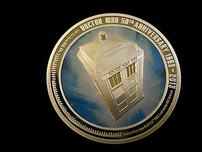 Niue 2013 $2 Doctor Who 50th Anniversary - 1 oz Silver Proof Coin