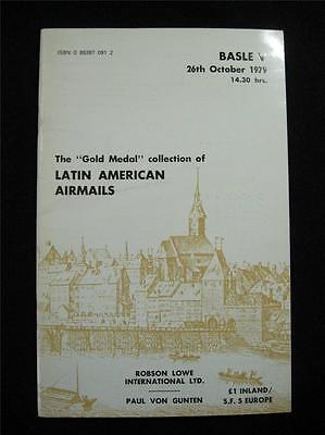 Robson Lowe Auction Catalogue 1979 Latin American Airmails-Grand Prix Collection