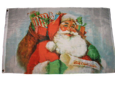 3x5 Merry Christmas Santa Claus Gifts Premium Quality Flag 3'x5' House Banner