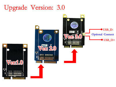 Mini PCI-E Adapter for BCM94360CD/BCM94331CD Upgrade to Version 3.0