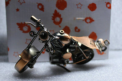Recycled Metal Art Hand Made Vintage Harley-Davidson Motorcycle Collection Gift
