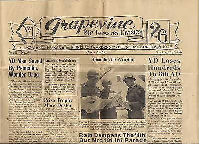 WWII 26th  Infantry Division Newspaper 1945