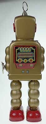 Gold Robot With Cogs & Sparks In Chest Clockwork High Wheel Robot  Collectible