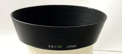 OLYMPUS metal lens hood for 28mm f 3.5 zuiko lens