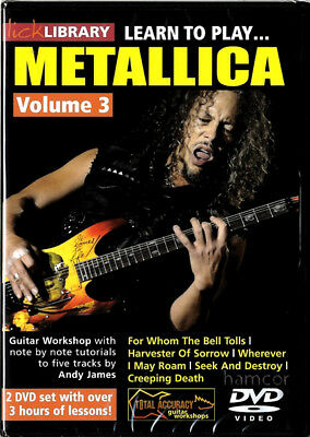 Learn to Play Metallica Vol 3 Lick Library Guitar DVDs