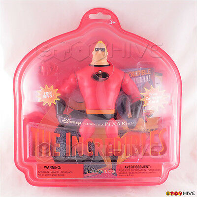 Disney Pixar The Incredibles Mr. Incredible action figure ring collector card