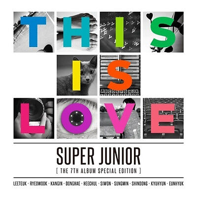 SUPER JUNIOR 7th Special [THIS IS LOVE]CD Album Random Cover+Tracking K-POP
