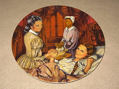 "NEW ""Melanie Gives Birth"" 1983 GONE WITH THE WIND Kursar/Knowles Collector Plate"