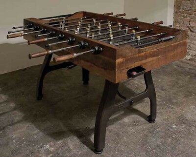 Industrial Parlor Sport Foosball Table Stone Platform Iron Hardwood ltd edition