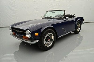 Triumph : Other TR6 1971 triumph tr 6 royal blue exterior new suspension and full documentation